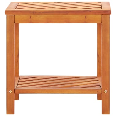 "vidaXL Side Table Solid Acacia Wood 17.7""x13""x17.7""[2/5]"