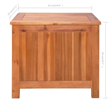 vidaXL Nevera portátil de madera maciza de acacia 63x44x50 cm[9/9]