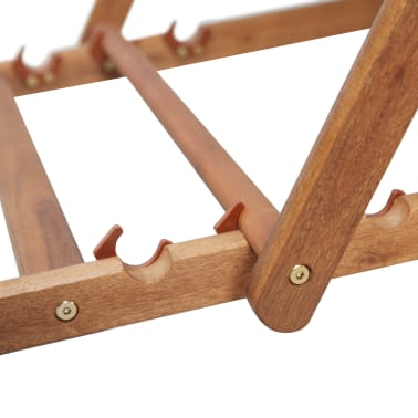 vidaXL Folding Beach Chair Fabric and Wooden Frame Gray[9/12]