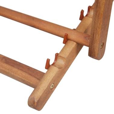 vidaXL Folding Beach Chair Fabric and Wooden Frame Gray[10/12]