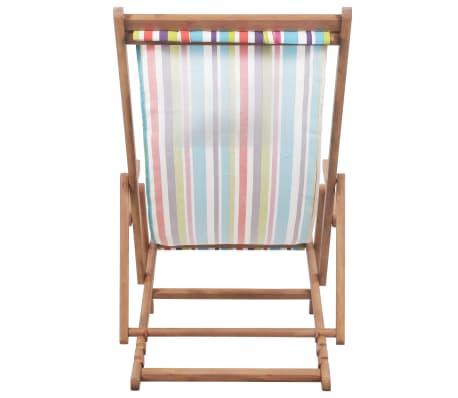 vidaXL saliekams pludmales krēsls, krāsains audums, koka rāmis[5/13]