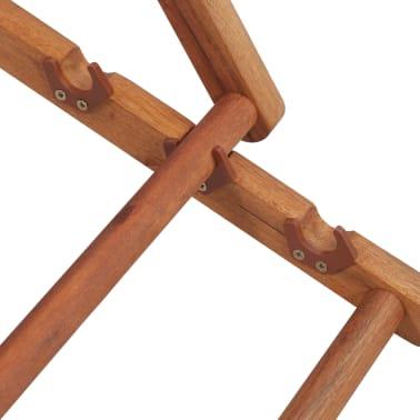 vidaXL saliekams pludmales krēsls, krāsains audums, koka rāmis[12/13]