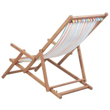 vidaXL saliekams pludmales krēsls, krāsains audums, koka rāmis[3/13]