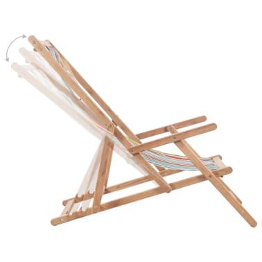 vidaXL saliekams pludmales krēsls, krāsains audums, koka rāmis[6/13]