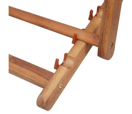 vidaXL Folding Beach Chair Fabric and Wooden Frame Red[11/12]
