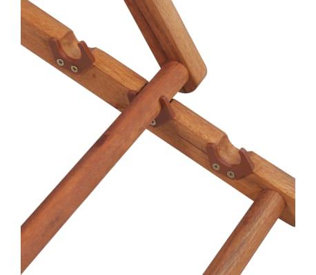 vidaXL Folding Beach Chair Fabric and Wooden Frame Red[9/12]