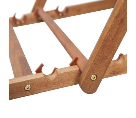vidaXL Folding Beach Chair Fabric and Wooden Frame Red[10/12]