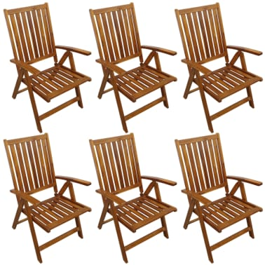 vidaxl garten essgruppe 7 tlg akazie massivholz g nstig kaufen. Black Bedroom Furniture Sets. Home Design Ideas