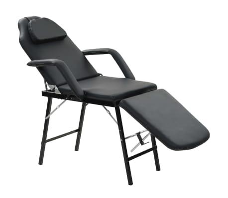 vidaXL Bärbar behandlingsstol konstläder 185x78x76 cm svart[1/9]