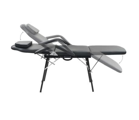 vidaXL Bärbar behandlingsstol konstläder 185x78x76 cm svart[3/9]