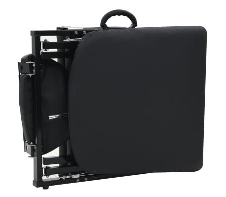 vidaXL Bärbar behandlingsstol konstläder 185x78x76 cm svart[7/9]