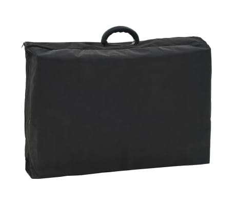 vidaXL Bärbar behandlingsstol konstläder 185x78x76 cm svart[8/9]