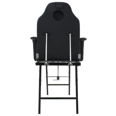 vidaXL Bärbar behandlingsstol konstläder 185x78x76 cm svart[4/9]