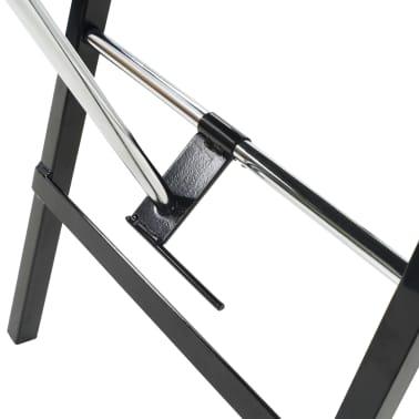 vidaXL Bärbar behandlingsstol konstläder 185x78x76 cm svart[6/9]