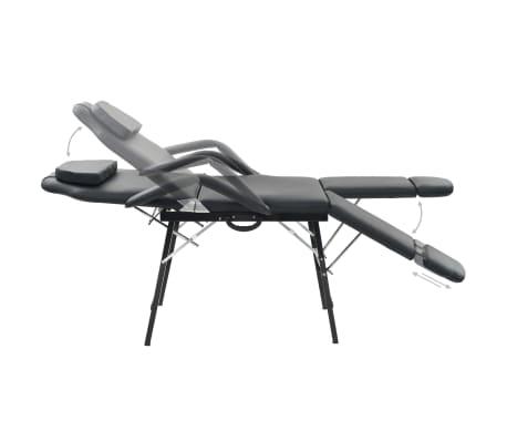 vidaXL Kilnojama kosmetologinė kėdė, dirbtinė oda, 185x78x76cm, juoda[3/9]