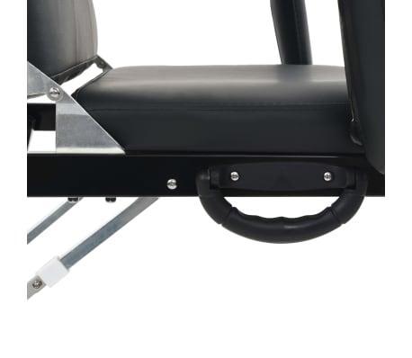 vidaXL Kilnojama kosmetologinė kėdė, dirbtinė oda, 185x78x76cm, juoda[5/9]