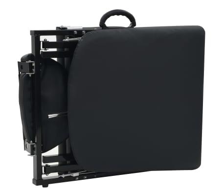 vidaXL Kilnojama kosmetologinė kėdė, dirbtinė oda, 185x78x76cm, juoda[7/9]