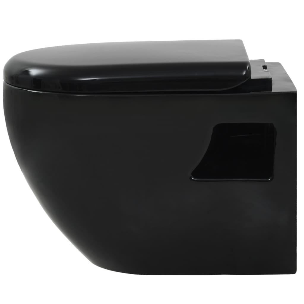 Wandtoilet keramiek zwart