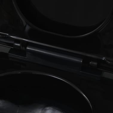 vidaXL Toaleta wisząca, ceramiczna, czarna[8/9]
