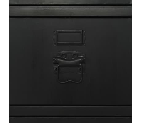 vidaXL Single Pedestal Desk Solid Firwood and Steel 100x50x76 cm[12/12]