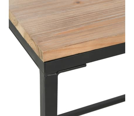 vidaXL Single Pedestal Desk Solid Firwood and Steel 100x50x76 cm[8/12]