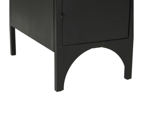 "vidaXL Double Pedestal Desk Solid Firwood and Steel 47.2""x19.6""x29.9""[12/13]"