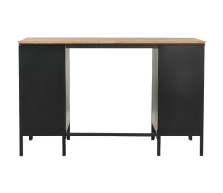 vidaXL Dvojna pisalna miza trden les jelke in jeklo 120x50x76 cm[5/13]