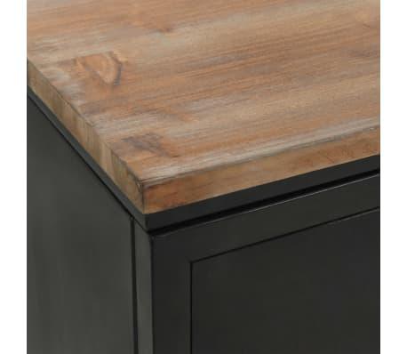 vidaXL Dvojna pisalna miza trden les jelke in jeklo 120x50x76 cm[9/13]