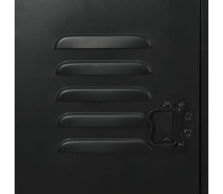 vidaXL Dvojna pisalna miza trden les jelke in jeklo 120x50x76 cm[10/13]