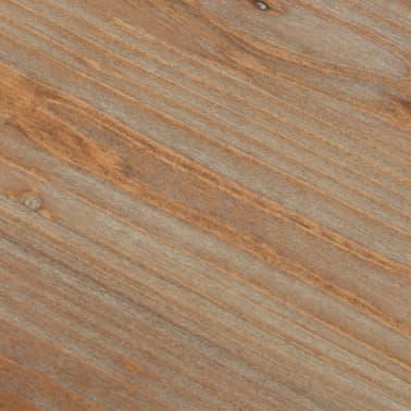 "vidaXL Double Pedestal Desk Solid Firwood and Steel 47.2""x19.6""x29.9""[11/13]"