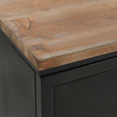 "vidaXL Double Pedestal Desk Solid Firwood and Steel 47.2""x19.6""x29.9""[9/13]"
