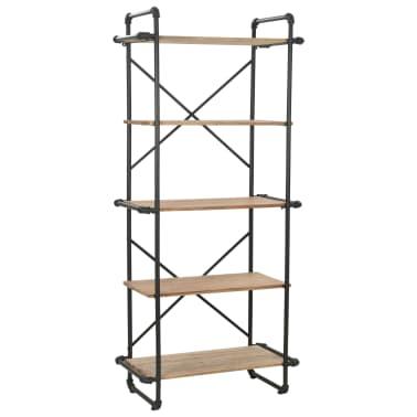 vidaXL Regał na książki z drewna jodłowego i stali, 80 x 42 x 180 cm[1/10]