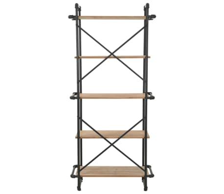 vidaXL Regał na książki z drewna jodłowego i stali, 80 x 42 x 180 cm[4/10]