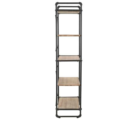 vidaXL Knygų lentyna, eglės mediena ir plienas, 80x42x180cm[5/10]