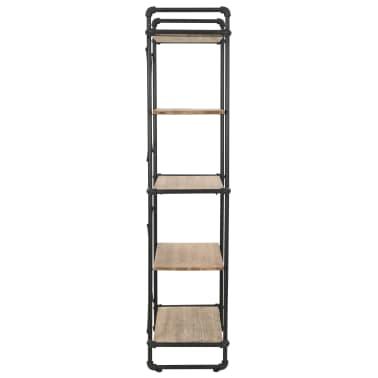vidaXL Regał na książki z drewna jodłowego i stali, 80 x 42 x 180 cm[5/10]