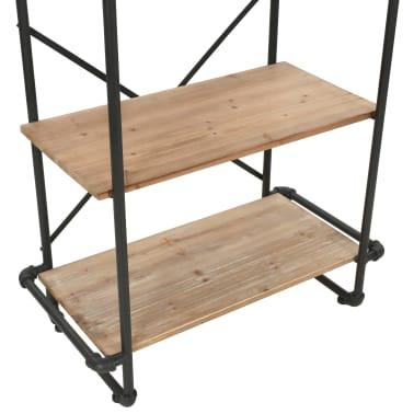 vidaXL Regał na książki z drewna jodłowego i stali, 80 x 42 x 180 cm[6/10]