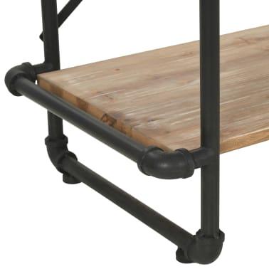 vidaXL Knygų lentyna, eglės mediena ir plienas, 80x42x180cm[7/10]