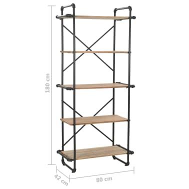 vidaXL Knygų lentyna, eglės mediena ir plienas, 80x42x180cm[10/10]