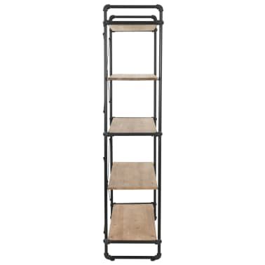 "vidaXL Bookcase Solid Firwood and Steel 47.2""x16.5""x70.8""[5/9]"