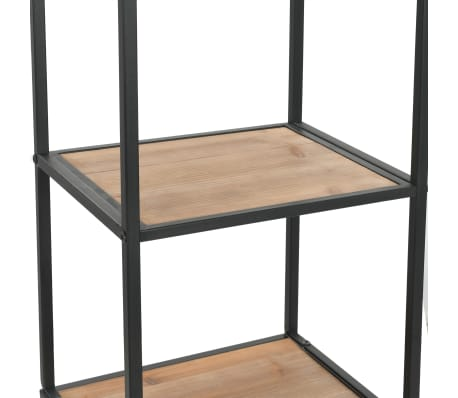 "vidaXL Bookcase Solid Firwood and Steel 15.9""x12.7""x70.8""[6/10]"