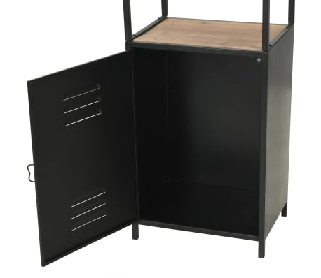 "vidaXL Bookcase Solid Firwood and Steel 15.9""x12.7""x70.8""[7/10]"