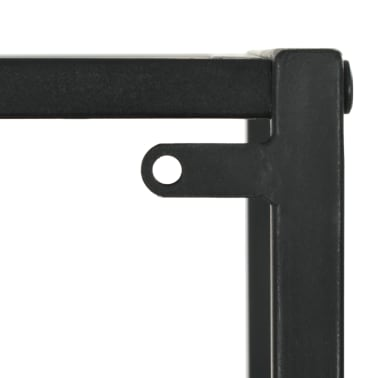 "vidaXL Bookcase Solid Firwood and Steel 15.9""x12.7""x70.8""[8/10]"