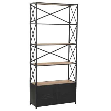 "vidaXL Bookcase Solid Firwood and Steel 31.4""x12.7""x70.8""[1/13]"
