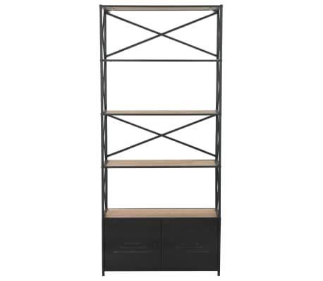 vidaXL Regał na książki z drewna jodłowego i stali, 80 x 32,5 x 180 cm[2/13]