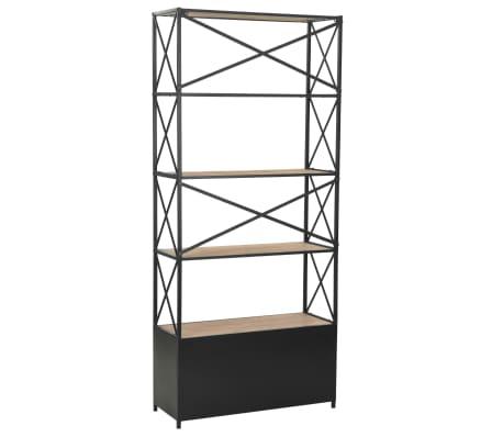 "vidaXL Bookcase Solid Firwood and Steel 31.4""x12.7""x70.8""[3/13]"