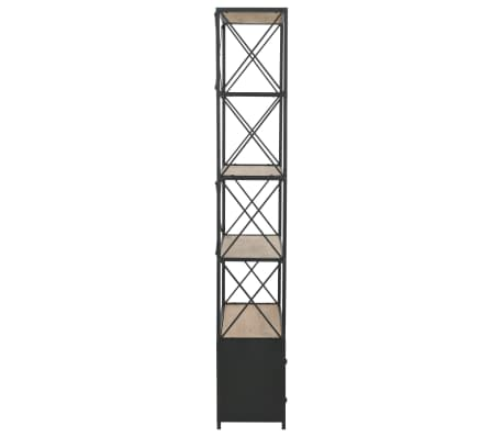 "vidaXL Bookcase Solid Firwood and Steel 31.4""x12.7""x70.8""[5/13]"