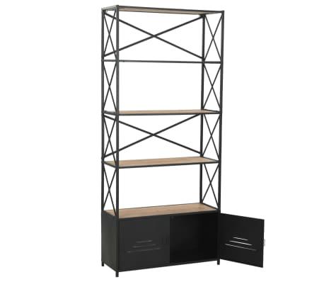 vidaXL Regał na książki z drewna jodłowego i stali, 80 x 32,5 x 180 cm[6/13]