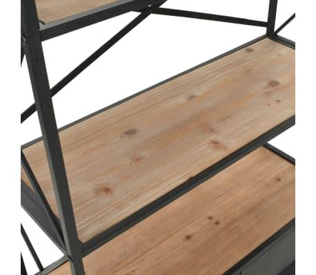 "vidaXL Bookcase Solid Firwood and Steel 31.4""x12.7""x70.8""[8/13]"