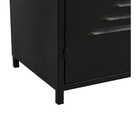 vidaXL Regał na książki z drewna jodłowego i stali, 80 x 32,5 x 180 cm[10/13]