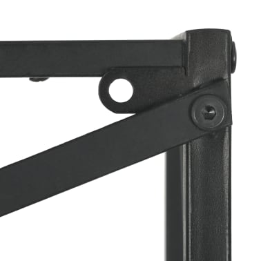 "vidaXL Bookcase Solid Firwood and Steel 31.4""x12.7""x70.8""[11/13]"
